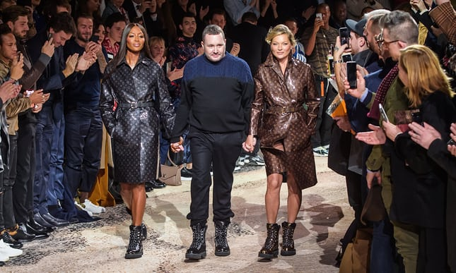 Kim Jones's last Louis Vuitton show ends in super-charged bang.